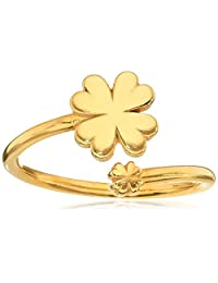 Alex and Ani Ring Wrap, Four Leaf Clover