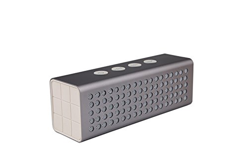 Bluetooth Wireless Speakers BAVISION 20W Compact & Rechargeable Portable Sound System User-Friendly & Compatible with All Devices – Handy Builtin Microphone – 15 Hours of Non-Stop Audio Silver (Highest Rated Portable Cd Players)