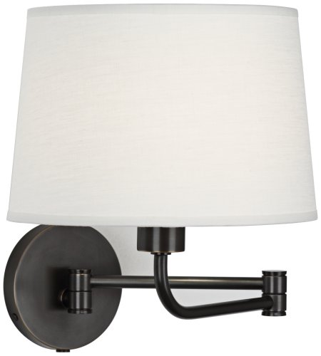 Robert Abbey Koleman Bronze Finish Plug-In Swing Arm Lamp (Robert Abbey Contemporary Sconce)