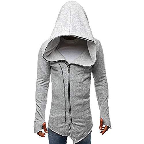 Big Men's Assassin's Creed Coat Dark Cloak Sweatshirt Zip Up Long Sleeve
