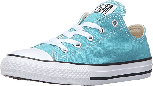 - Converse Kids Boys Girls Chuck Taylor All Star Seasonal Ox Fashion Sneaker Shoe, Aegean Aqua, 11
