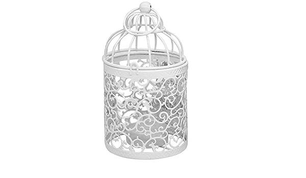 ALeis - Portavelas de hierro hueco para colgar en jaula de pájaros ...