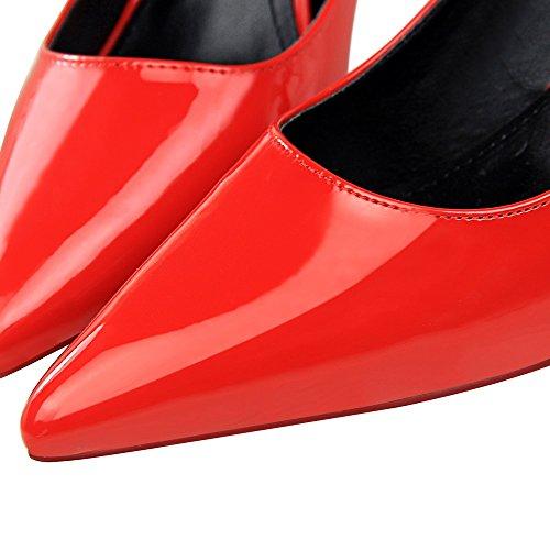 Ol Les Xiaoqi Brevet Shallow Bow À Hauts Et Pointu Sexy Simple Bouche De Talons Après Occupation Chaussures Européenne Américaine Rouge Mode Diamant wXRqaAx