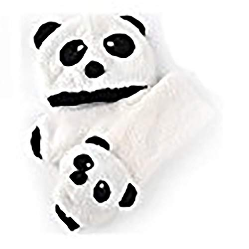 Panda Caps and Scarf 2PCS Set Winter Cute Warm Hat Animal Wear for Baby Children Toddler Infant for Boys Girls White