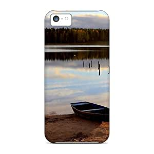 New Style Kylarlson Old Rowboat On A Lake Shore Premium Tpu Cover Case For Iphone 5c