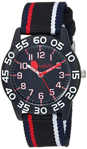 Red Balloon Boys Analog-Quartz Watch with Nylon Strap, Black, 16.1 (Model: W001890