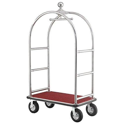 Silver Stainless Steel Bellman Cart Curved Uprights 8