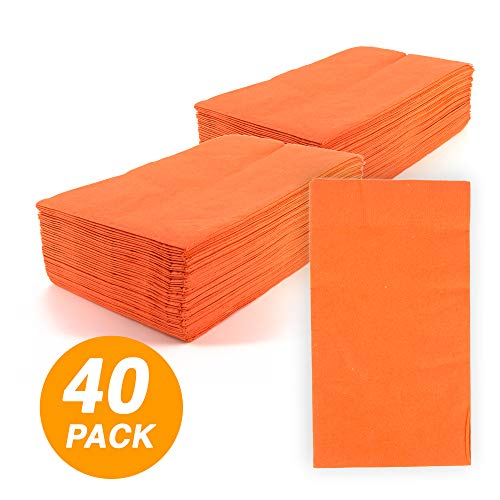SparkSettings Big Party Pack Tableware 2 Ply Guest Towels Hand Napkins Paper Soft and Absorbent Decorative Hand Towels for Kitchen and Parties 40 Pieces Orange Peel