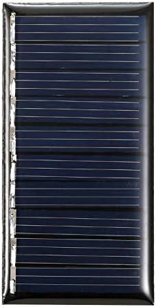 0,25 W 5V Mini-Solarpanel Polykristallines Silizium Kleine Solarzelle DIY Wasserdichtes Camping Tragbares Power-Solarpanel Kompatibel für Spielzeug Lichtlampe Lüfter Gartenpumpe