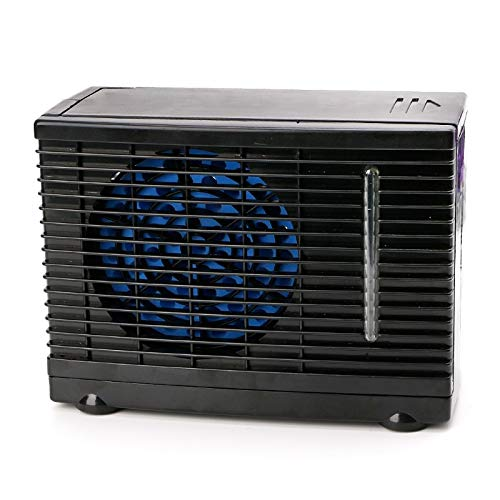 Embiofuels - Portable Air Conditioner for Cars 12V Adjustable 60W Car Air Conditioner Cooler Cooling Fan Water Ice Evaporative Cooler [Black]