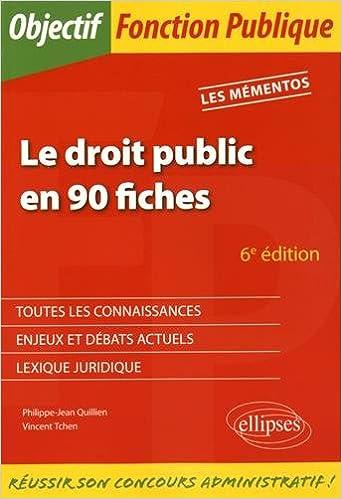 Livres gratuits Le droit public en 90 fiches epub pdf