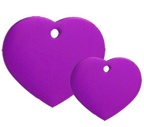(10 Purple Heart Pet Tag Blanks)