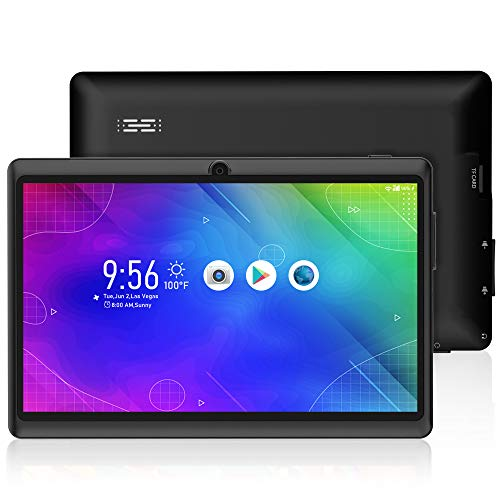 Tablet 7 inch Android 10.0 Quad Core-processor 1024×600 HD/IPS-display, 16 GB ROM 128 GB uitbreidbare WiFi Bluetooth…