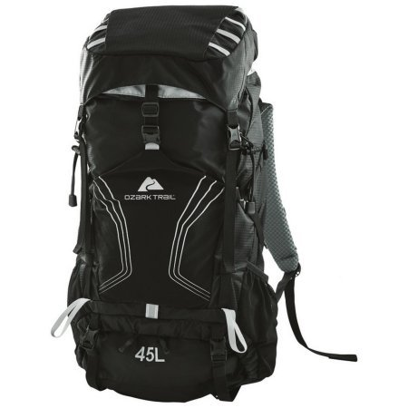 OZARK TRAIL - 45L Montpelier Technical Backpack, Removable Aluminum Frame, 2 Side Mesh Pockets