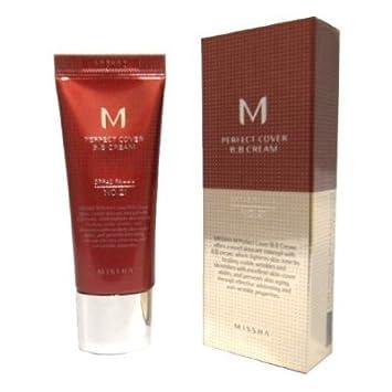 Missha M Perfect Cover BB Cream No.21 Light Beige 20ml: Amazon.co ...
