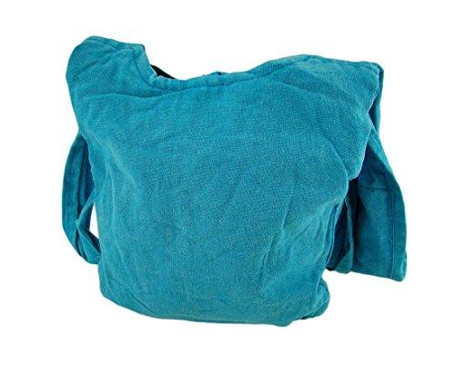 Zeckos - Bolso cruzados de algodón para mujer Talla única Azul