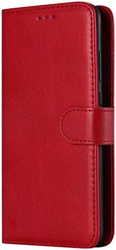 Lomogo Huawei P30 ケース 手帳型 耐衝撃 レザーケース 財布型 カードポケット スタンド機能 マグネット式 ファーウェイP30 手帳型ケース カバー 人気 - LOKTU110058 赤