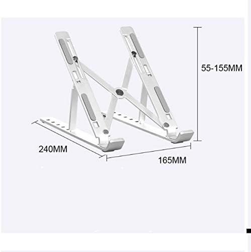 Laptop Stand Saves Space Adjustable Universal Lightweight Lift Folding Portable Aluminum Mobile Moving Bracket
