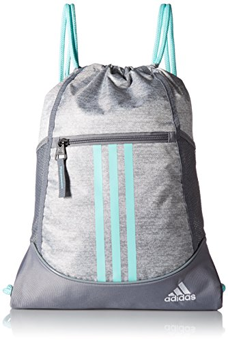 adidas Alliance II Sack Pack, One Size, Stone Jersey/Energy Aqua/Grey/White (Drawstring Bag)