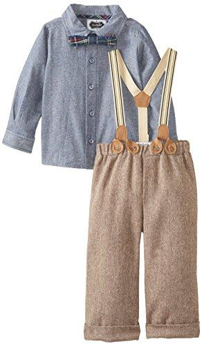 Mud Pie Tweed Suspender Pants