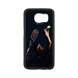 Tennis Roger Federer Show TPU Phone case cover for SamSung Galaxy S6 white