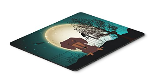 Caroline's Treasures Halloween Scary Dachshund Chocolate Mouse Pad, Multicolor, 7.75x9.25 (BB2321MP) (Treasures Coasters)