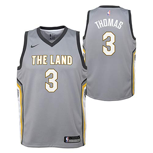 Outerstuff Isaiah Thomas Cleveland Cavaliers NBA Nike Youth Grey City Edition Swingman Jersey ()