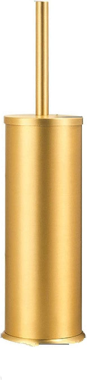 TLJHBVC Luxury Gold Black Aluminum Toilet Brush Holder Set Bathroom Cleaning Brush Floor Standing Bathroom Storage Organization Goods Gold