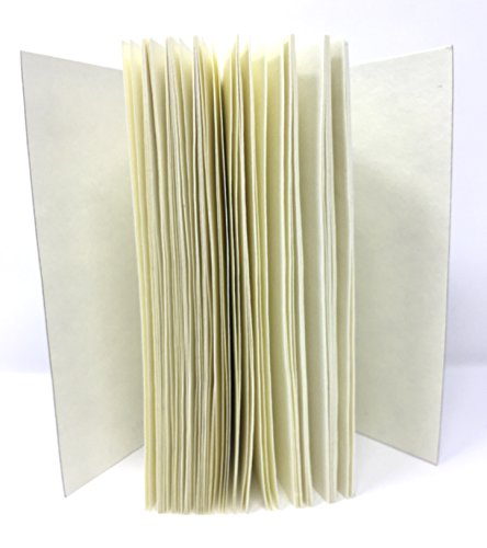 75% Recycled Cotton - MoLi Journal Refill Paper Inserts 2 Pack Fountain Pen Paper - Refillable Recycled Cotton Pages Acid Free Unlined with Pocket and Bookmark 6