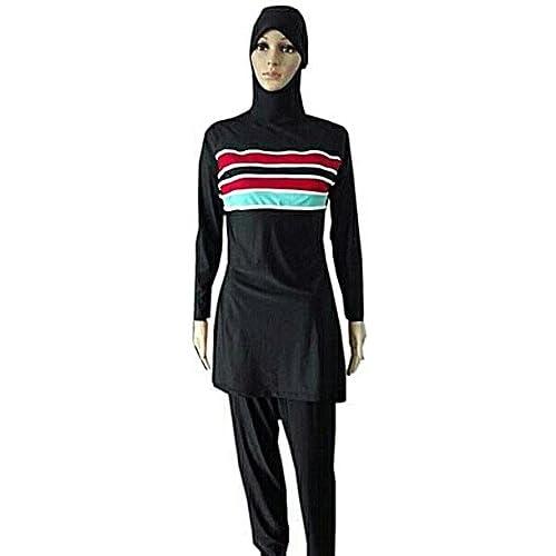 bda70520f1 YEESAM Muslim Swimwear for Women Girls Modest Islamic Hijab Swimsuits  Burkini high-quality