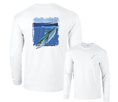 Kingfish Long Sleeve - Fair Game Direct Connection Kingfish Long Sleeve T-Shirt-White-Large