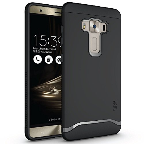 TUDIA ZenFone 3 Deluxe ZS570KL Case, Slim-Fit Merge Dual Layer Protective Case for ASUS ZenFone 3 Deluxe (ZS570KL) (Matte Black)