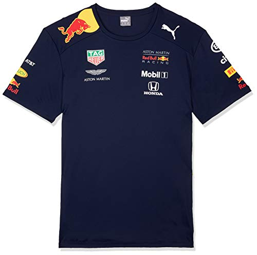 Aston Martin Red Bull Racing F1 Mens Team T-Shirt 2019 L Blue