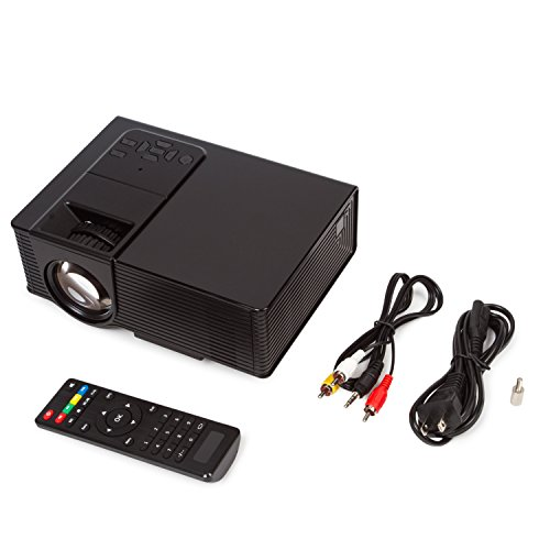 1080P Mini Projector for Watching World Cup, Led Projector, Amgaze Video Projector, Home Theater Cinema with HDMI AV VGA USB SD for PC Laptop iPad Smartphone (Black) by Amgaze (Image #9)