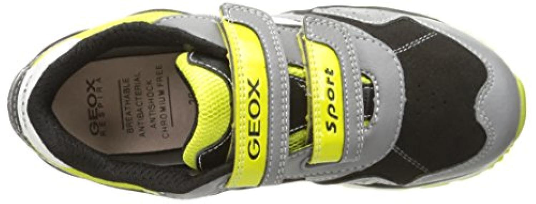 Geox J PAVEL B, Boys' Low-Top Sneakers, Grey (GREY/LIMEC0666), 1 UK (33 EU)