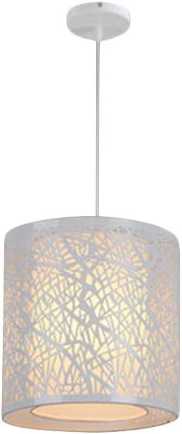 Lámpara de techo estilo minimalista vintage, de hierro forjado, tallada, con lámpara colgante de candelabro, E27, 220 V, 40 W, para interior dormitorio, sala de estar, cafetería, Blanco