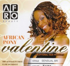 Afro Beauty Collection African Pony (Valentine) (Sensual Braid) - Color 33 - Dark Auburn
