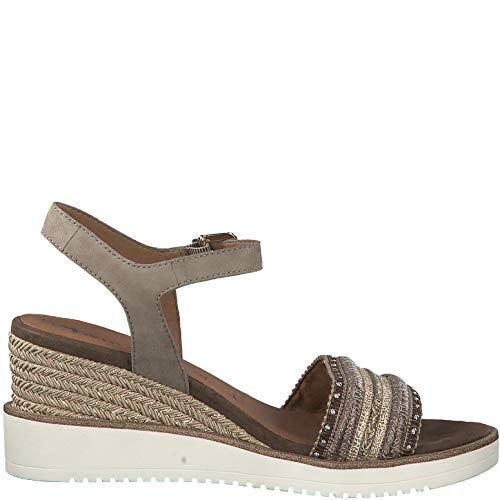 28243 cómodo Cuña Mud Sandalias Del Tamaris 1 1 22 Mujer Verano plana De zapatos q00PEHw
