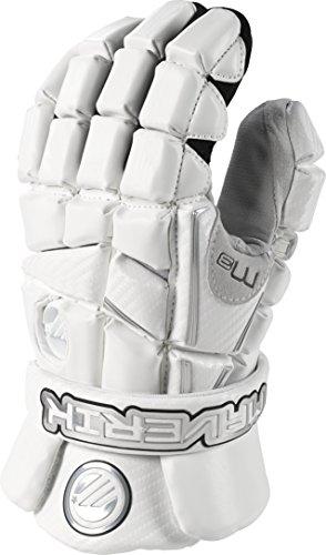 Maverik Lacrosse M3 Glove, White, Large