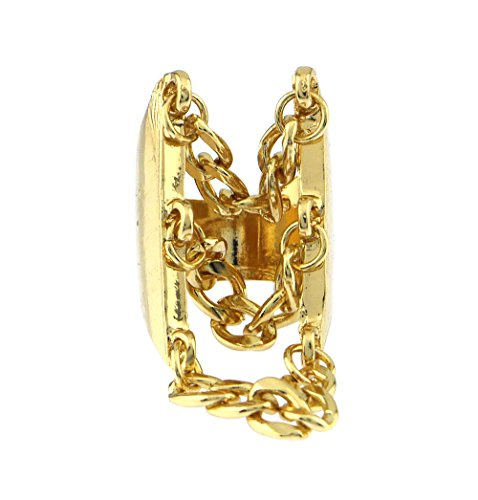 Draping Multi Layer Cuban Chain Statement Cocktail Ring Gold-plated (Custom Costume Hip Hop Jewelry)