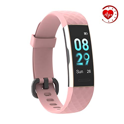 YoYoFit Sage Fitness Tracker Pedometer Watch,IP68 Waterproof Activity Tracker with Heart Rate Monitor,Step Counter,Sleep Monitor,Calorie Counter,Multi-Sports Model with Connected GPS for Men ()