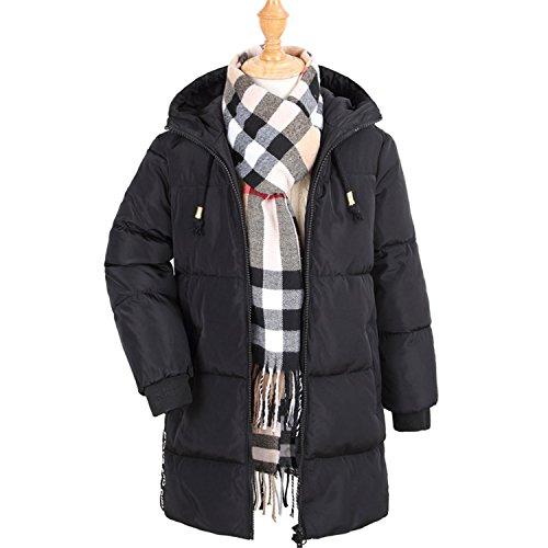 Girls Parka Winter Coat Fur Children Thick Down Jacket Boys Down Jacket Kids Duck Down Jacket Wear Coat Black 5 -