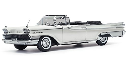 Mercury Park Lane Convertible - 1959 Mercury Park Lane Open Convertible Marble White Platinum Edition 1/18 Diecast Model Car by SunStar 5154
