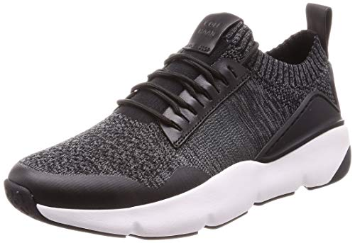 Cole Haan Men's Zerogrand All-Day Trainer with Stitchlite Black/Gray Pinstripe Knit/Black/Optic White 11 D US
