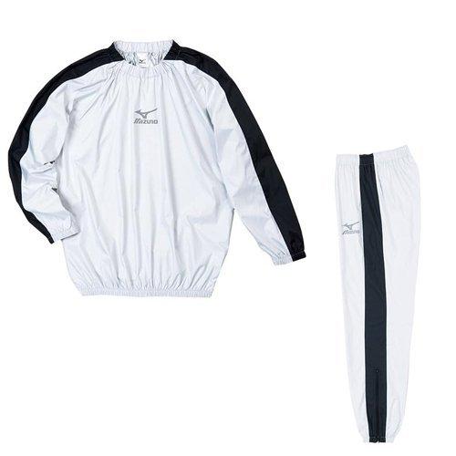 MIZUNO(ミズノ) ウィンドブレーカー アスタースーツ 上下セット ウィンドブレーカーシャツ パンツ ロングパンツ メンズ mizuno-setup-m B01FSHSDZS M|シルバー×ブラック-シルバー×ブラック シルバー×ブラック-シルバー×ブラック M