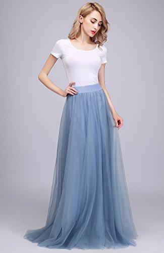 24c8d65ce7 Honey Qiao Maxi Skirt Tulle Bridesmaid Dresses High Waist Floor Length Long  Woman