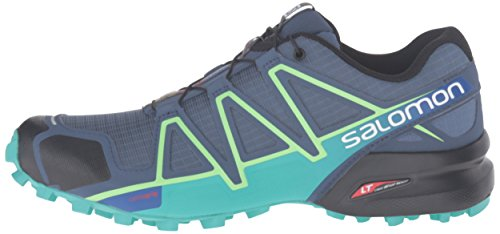 Salomon Women's Speedcross 4 W Trail Runner, Slate Blue/Spa Blue/Fresh Green, 5 B(M) US by Salomon (Image #5)