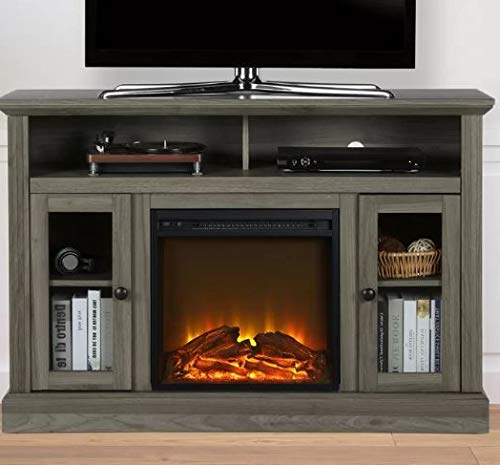 Cheap DesignTN- Entertainment Center with Fireplace-TV Console with Fireplace-Rustic Gray-for TVs Up to 50 Inch-A Must-Have for Living Areas and Entertainment Spaces Black Friday & Cyber Monday 2019