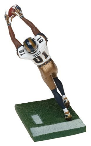 low priced b3aaa 25b13 McFarlane Toys NFL Sports Picks Series 8 Action Figure Torry Holt (Saint  Louis Rams) White Jersey #81 Gold Pants by McFarlane's Sportspicks