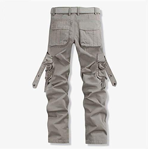 Retrò Grau Uomo Casual Abbigliamento Adelina Multiuso Lavoro Sportivi Cargo Pantaloni Da qxvz1Sp